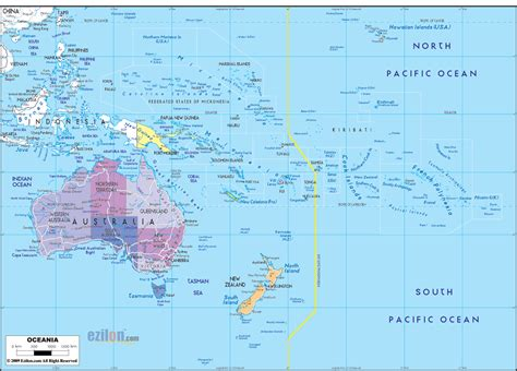 map of oceania countries political map of oceania ezilon maps