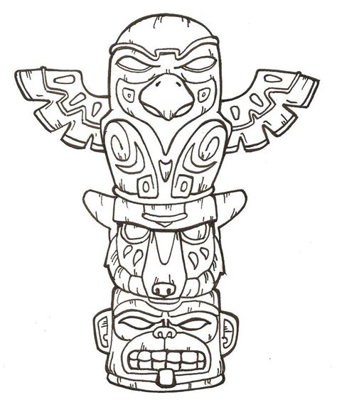 tiki mask coloring page az coloring pages