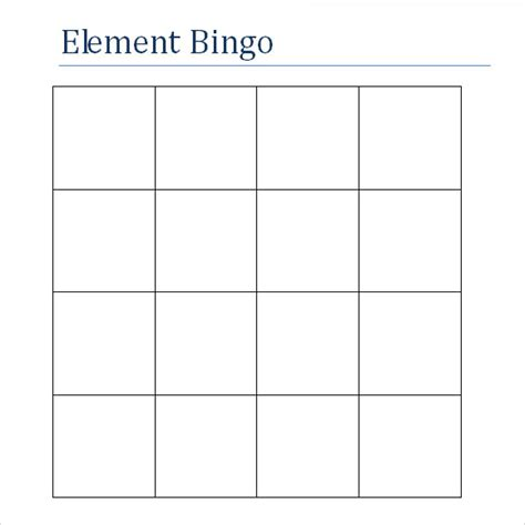 free bingo card templates sle blank bingo 8 documents in word pdf
