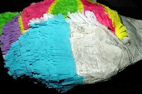 How To Decorate A Pinata by Decorating With Crepe Paper Pi 241 Ata Boy