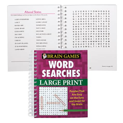 and large print books large print word search book