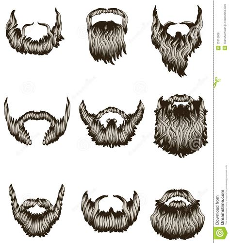 moustache stock images royalty free images vectors set of beards stock vector illustration of 13116908