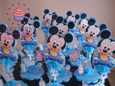 Mickey Mouse Baby Shower Items baby mickey baby shower items baby mickey center pieces
