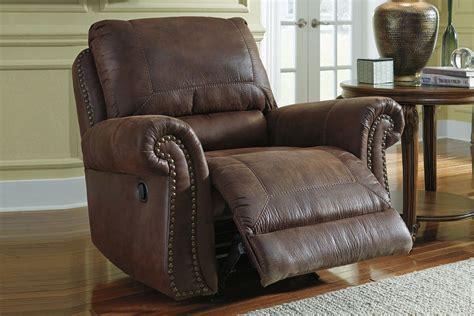 nailhead recliner breville brown with nailhead rocker recliner at gardner white