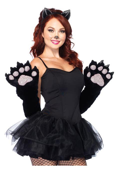 cat costumes black anime paw