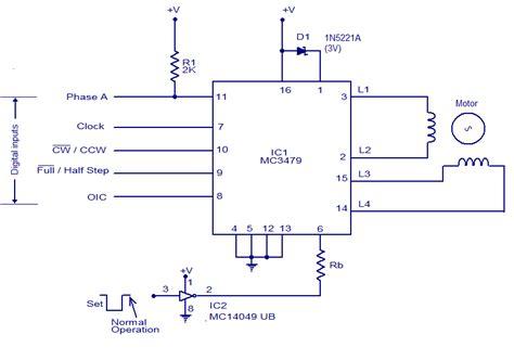 schematic wiring diagram mc3479 stepper motor driver