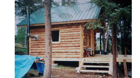 alaska log cabinstart  finish youtube