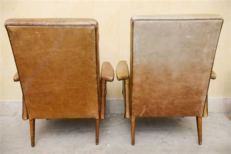 Mid Century Modern Leather by Mid Century Fabulous Modern Leather Armchairs At 1stdibs