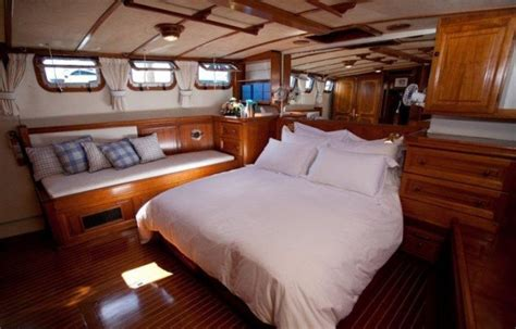 fast boat with cabin luxury yacht charter malaika master cabin