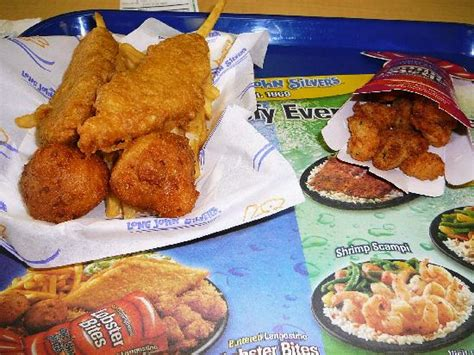 silver s hush puppies fries chicken planks hush puppies and lobster bites picture of silver s