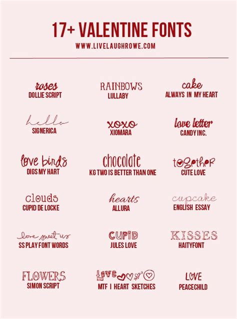 free printable valentines fonts 17 free valentine fonts live laugh rowe