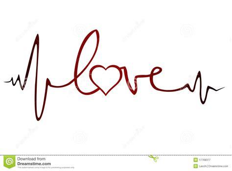 tattoo font ecg royalty free stock photography love ekg white heart