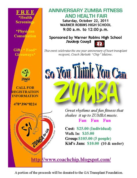 chip n away at heart disease zumba fitness and health fair
