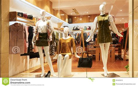 fashion shop window clothing store front stock image