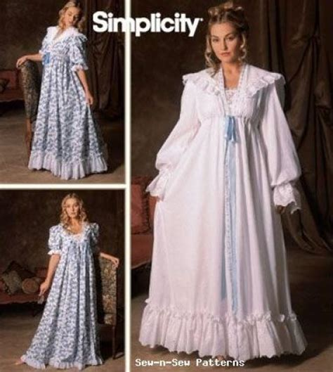 sewing pattern victorian nightgown simplicity 5188 sewing pattern 18 24 vintage victorian