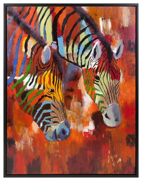 oil paintings printing for sale zebra canvas prints modern acacia zebra framed oil painting contemporary