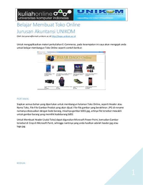 membuat email ac id membuat halaman toko online