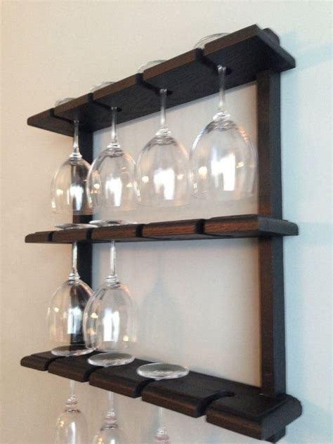 Wine Glass Shelf Rack by Best 25 Wine Glass Rack Ideas On