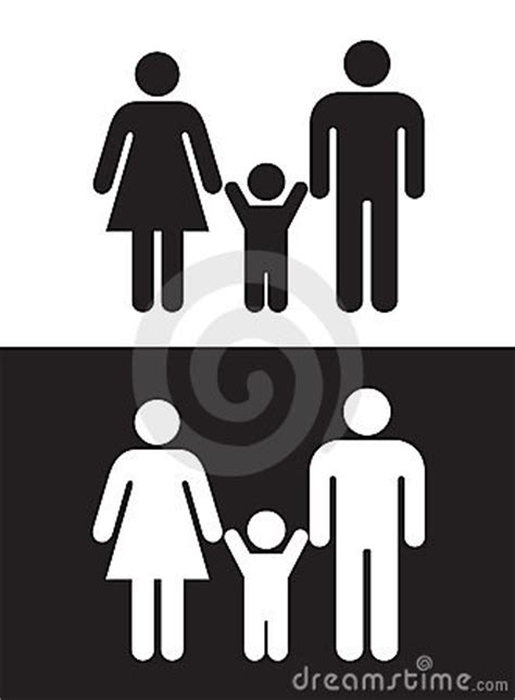 Imagenes De Una Familia En Blanco Y Negro | familia blanco y negro imagen de archivo imagen 10356881