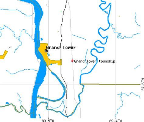 grand il map grand tower township jackson county illinois il