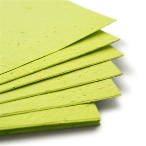 Seed Paper - 11 x 17 lime green plantable seed paper 11 x 17