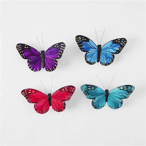 butterfly clip ornaments contemporary christmas