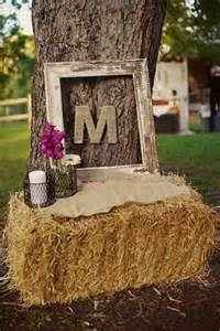 Hay Bale Wedding Decoration