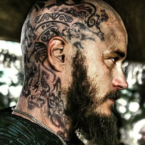 ragnar head tattoos ragzz tatzzz vikings pinterest vikings tvs and ragnar