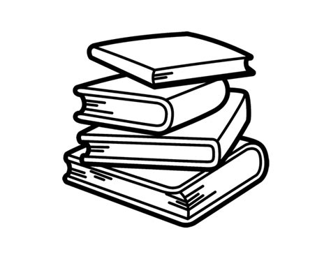 to an coloring book books stack of books coloring page coloringcrew