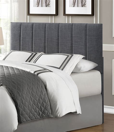 Gray Fabric Headboard Homelegance Portrero Upholstered Headboard Grey 2024 1hb