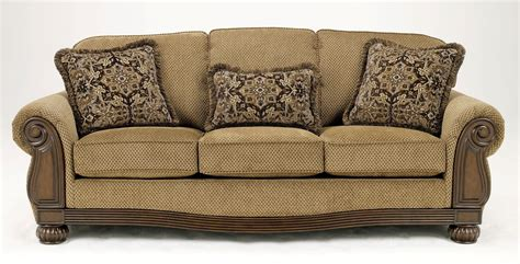 ashley sofa sleeper ashley lynnwood amber queen sofa sleeper 6850039 furniture