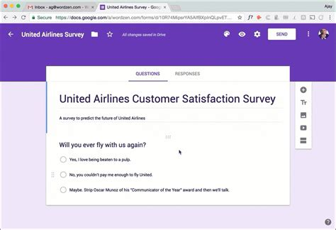United Airlines Mba Questions by Use Forms And Gmass To Send Surveys And Follow Up