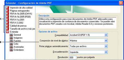 Crear Una Configuravion De Mba by Configuraci 243 N De Conversi 243 N De Adobe Pdf Acrobat