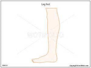 Leg Template by Leg Foot Ppt Powerpoint Drawing Diagrams Templates