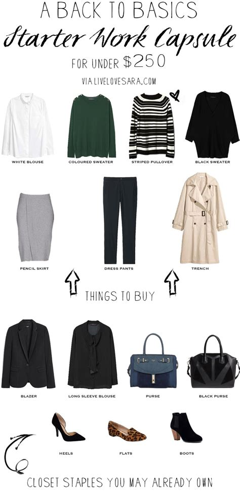 Basic Work Wardrobe Essentials by Back To Basics Starter Work Capsule For 250
