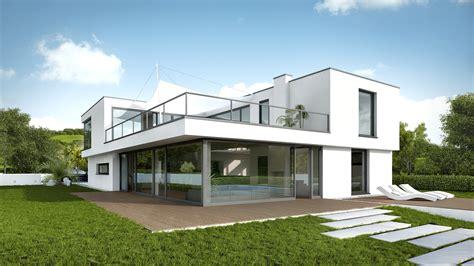 haus bauen ideen ideen k 252 hles haus modern architektenhaus flachdach bauen