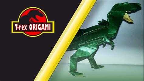 tutorial origami t rex origami t rex tutorial youtube