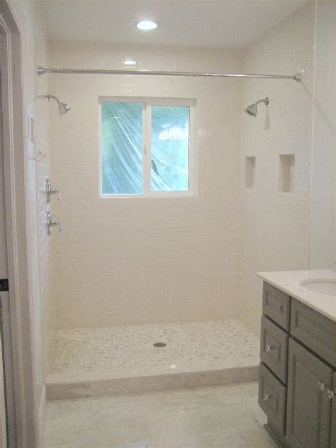 shower instead of bath use shower curtain instead of glass enclosure to save