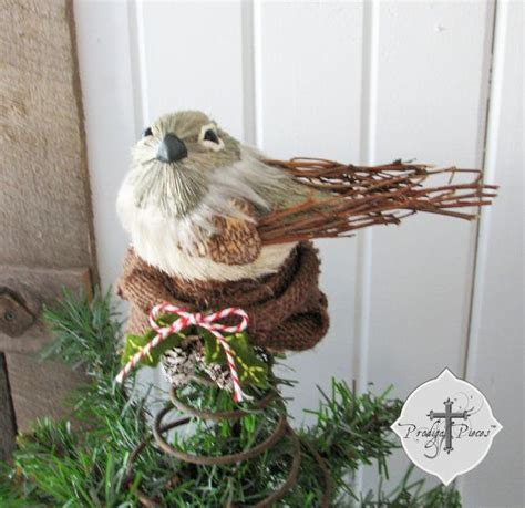 rustic bird s nest christmas tree topper made with