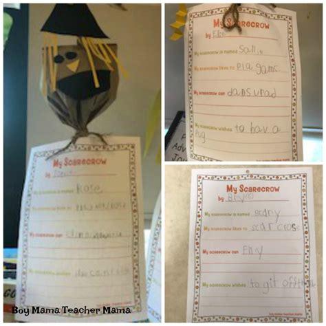 scarecrow writing paper scarecrow writing activity boy