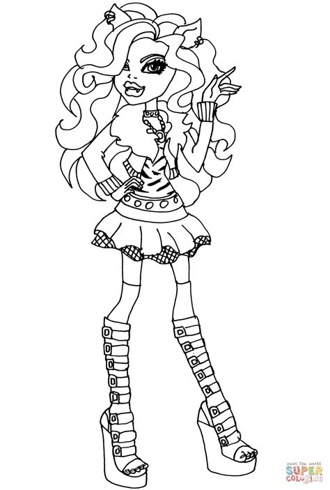 free printable monster high coloring pages at veles me