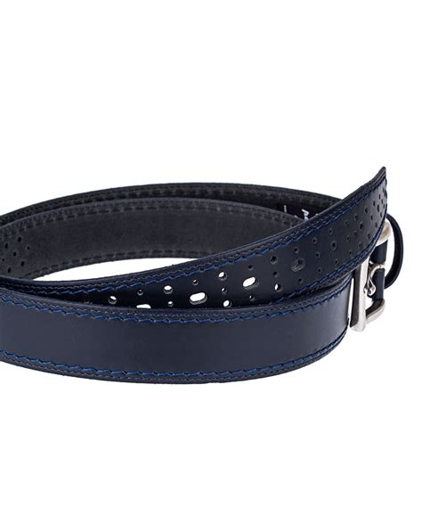Perforated Belt perforated italian leather belt capopelle