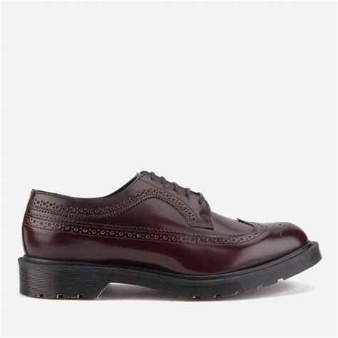 Dr Martens 156169 Made In Docmart Dr Martens dr martens s made in 3989 leather brogues merlot boanil brush free uk