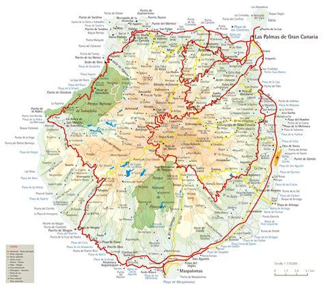 printable map gran canaria carte gran canaria espagne lakestevensflorist