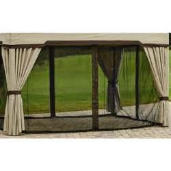 Privacy Curtains For Gazebo by Garden Oasis Replacement Curtain For Privacy Gazebo