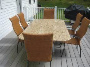 Granite Patio Table Granite Patio Table Other Metro By Marble Doctors Llc