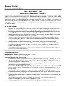 professional resume sles professional development resume for teachers sales