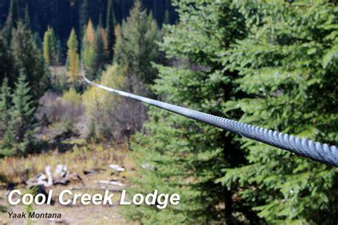drift boat zipline cool creek ranch weekly rental lodge yaak vacation