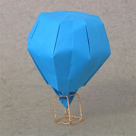 Origami Air Balloon - zing origami objects and things