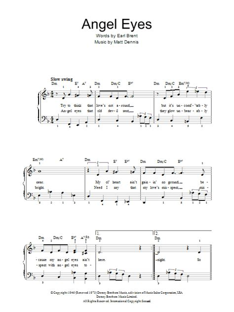theme song in angel eyes angel eyes sheet music direct